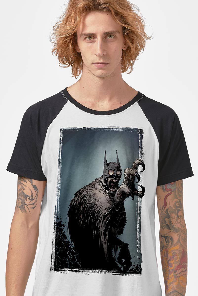 NÃO ATIVAR Camiseta Raglan Masculina Batman Coruja