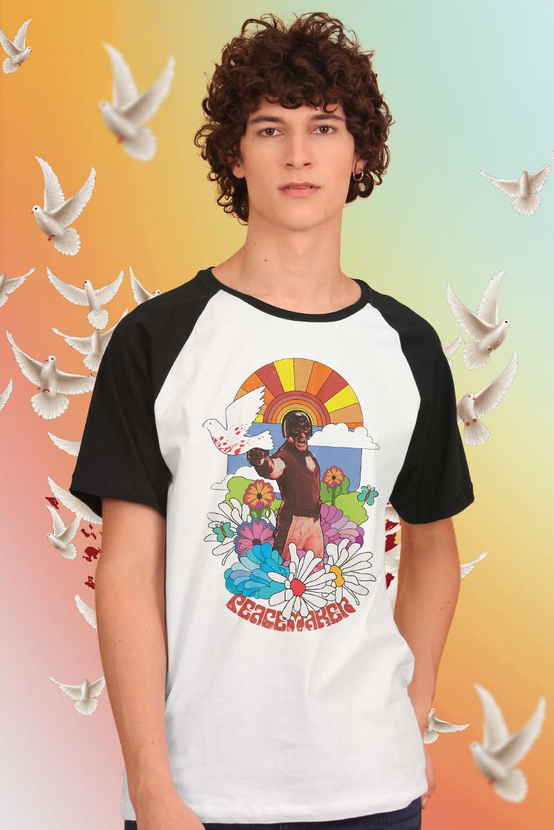 Camiseta Raglan Masculina Esquadrão Suicida Peace