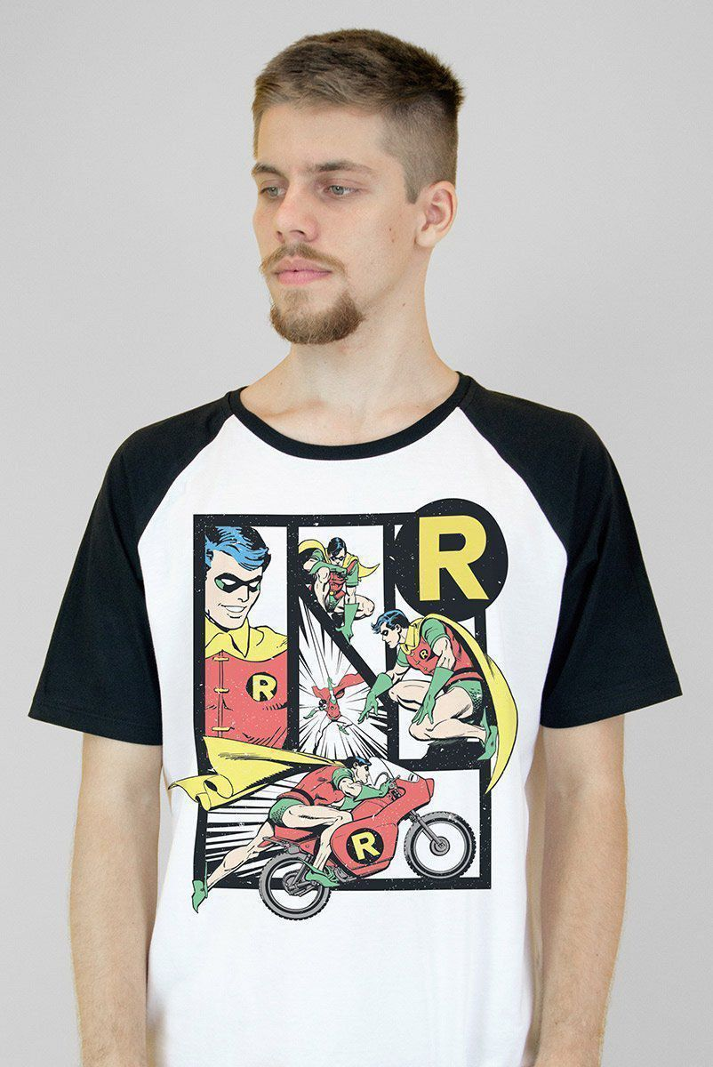Camiseta Raglan Masculina Robin Classic