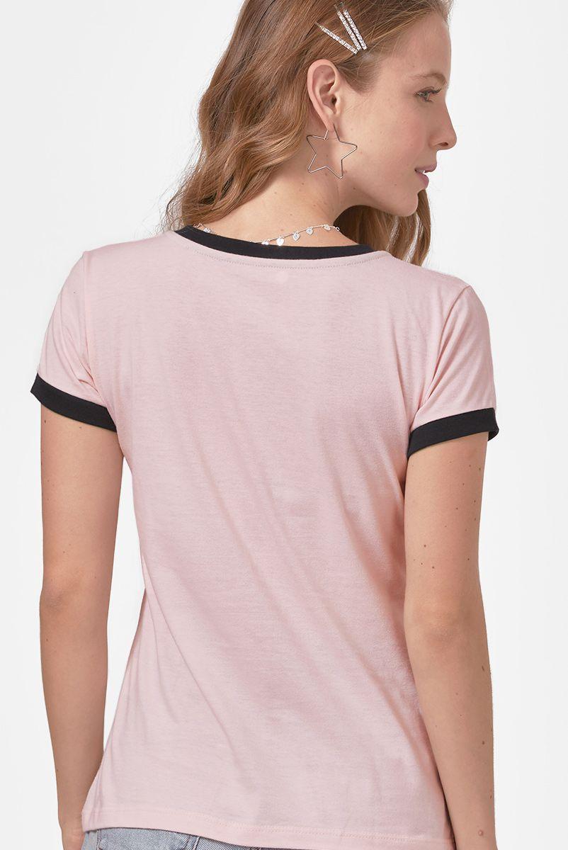 Camiseta Ringer Feminina Mulher-Gato