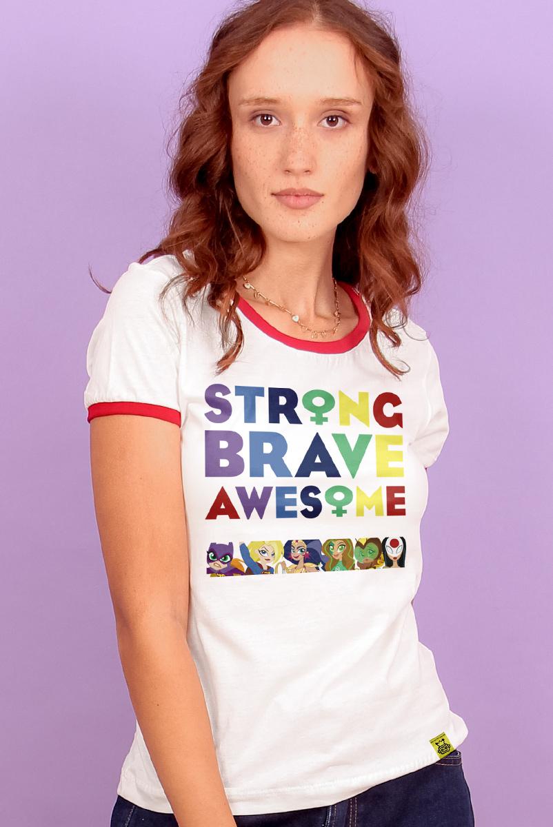 Camiseta Ringer Feminina Strange Brave