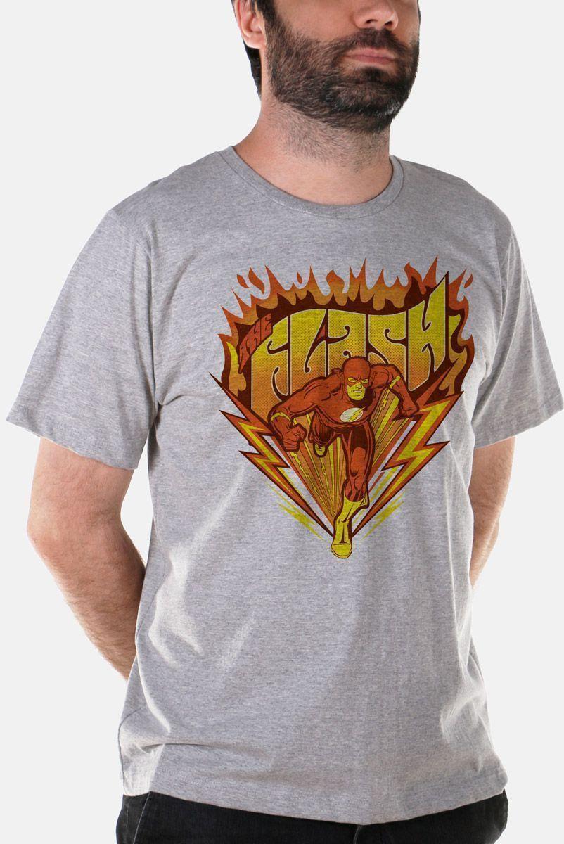 Camiseta Masculina The Flash Fire 2