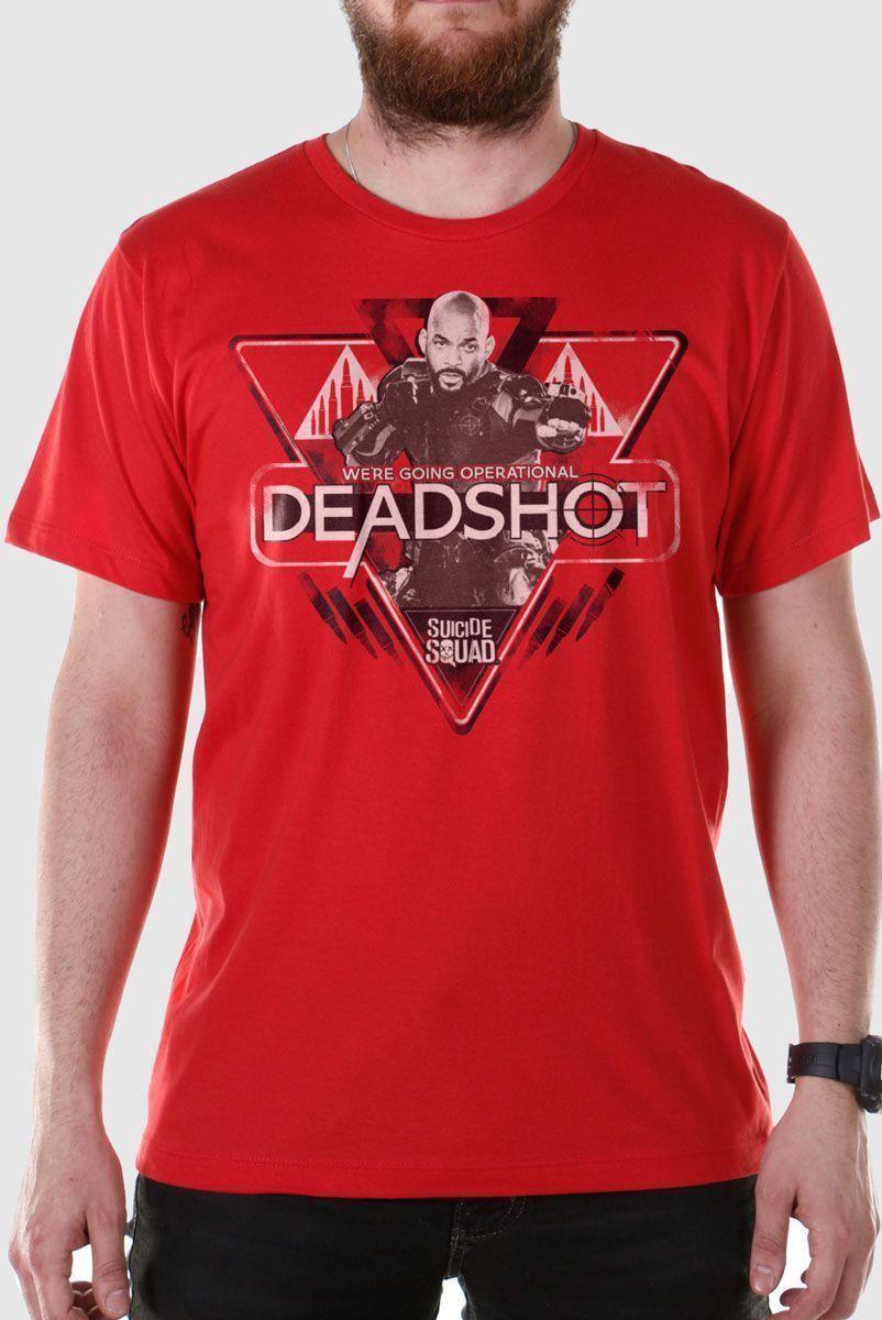 Camiseta Masculina Esquadrão Suicida Deadshot