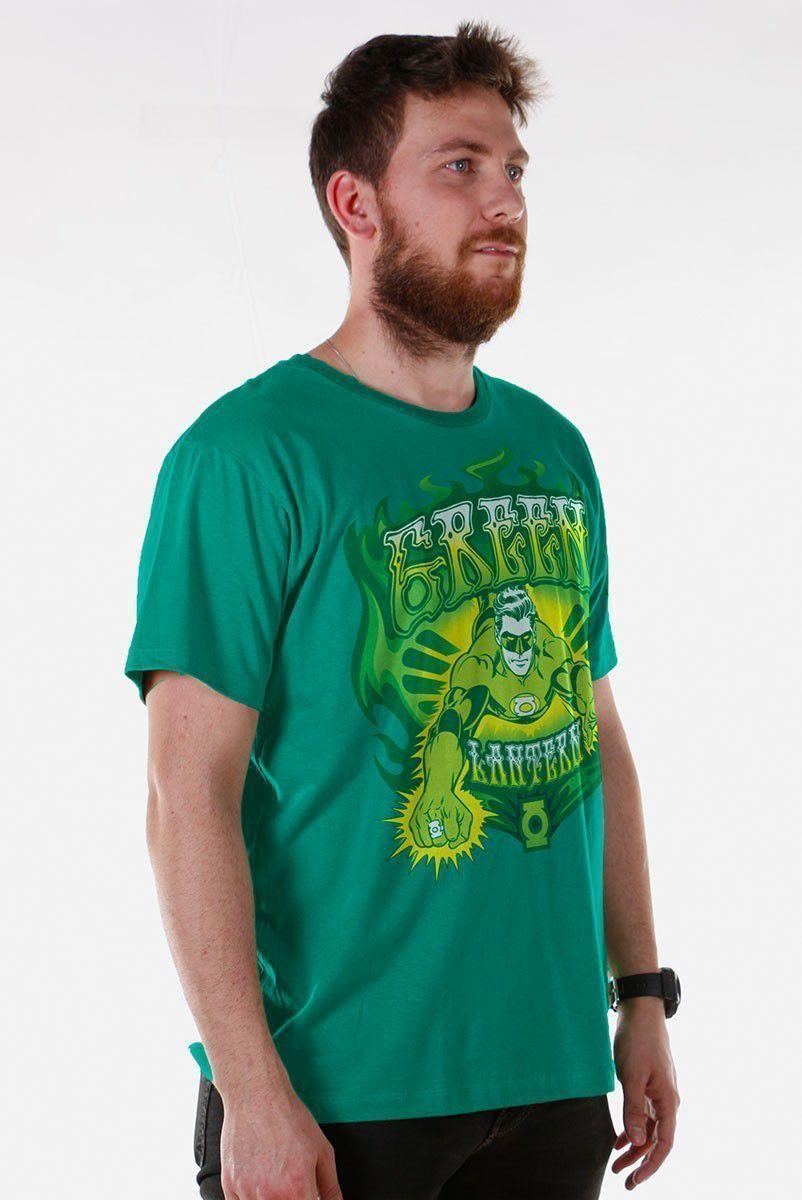 Camiseta Masculina Lanterna Verde em Ação