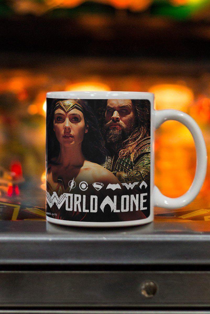 Caneca Liga da Justiça You Can't Save The World Alone