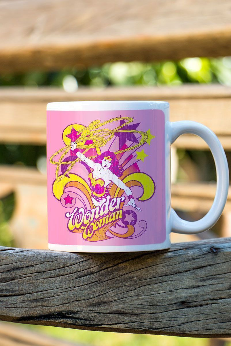Caneca Power Girls Mulher Maravilha In Action