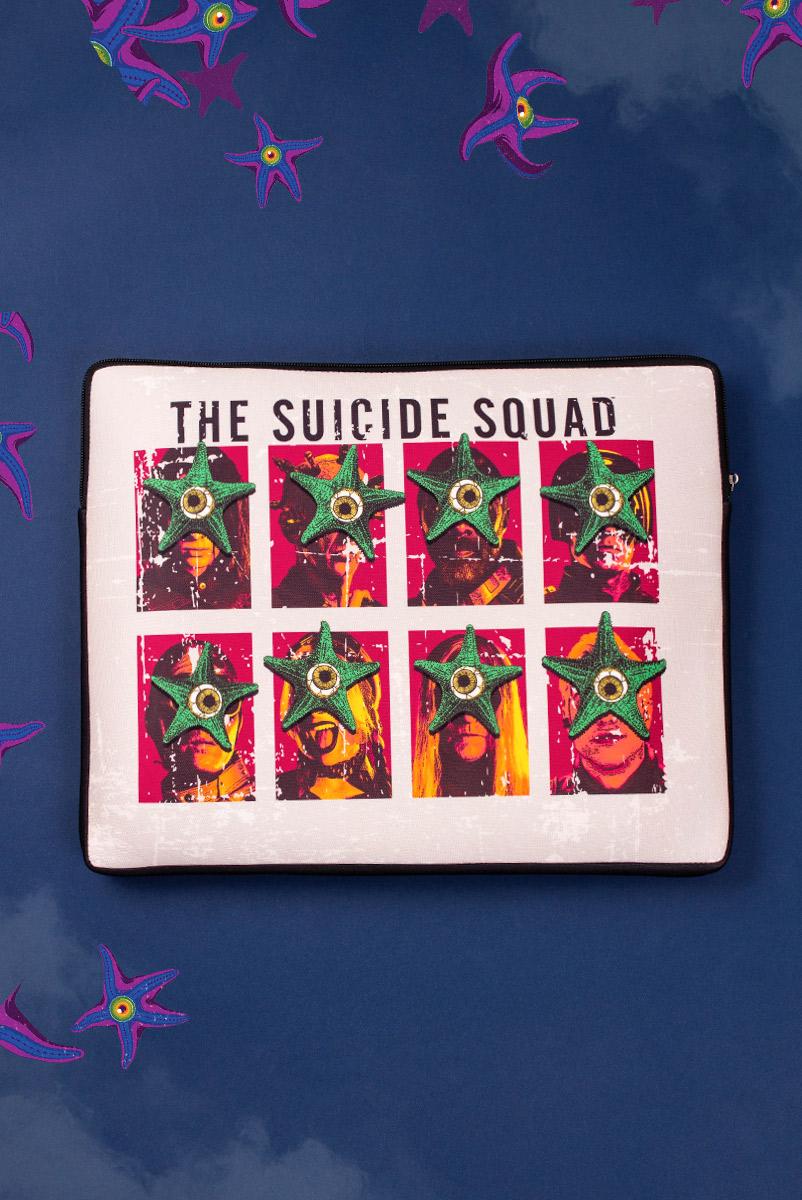 Capa de Notebook Esquadrão Suicida Starro Faces
