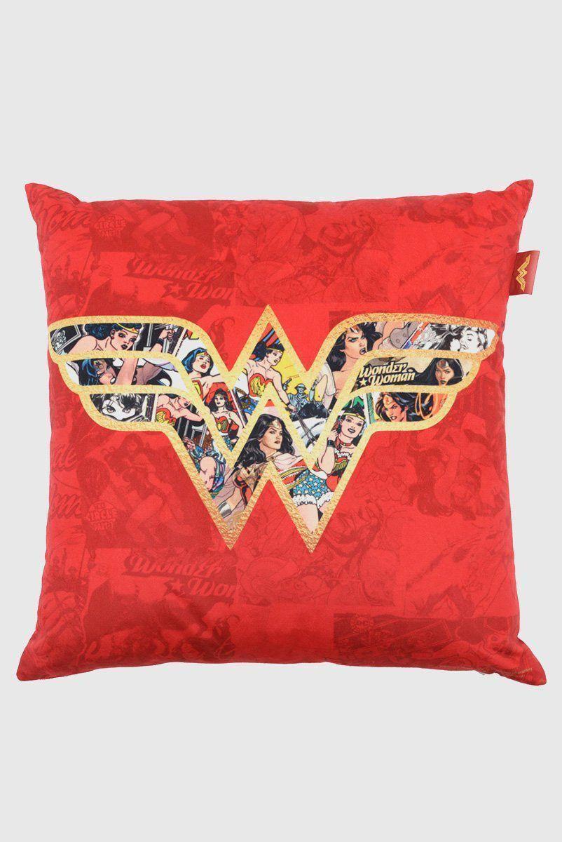 Capa para Almofada Wonder Woman Logo With Comics