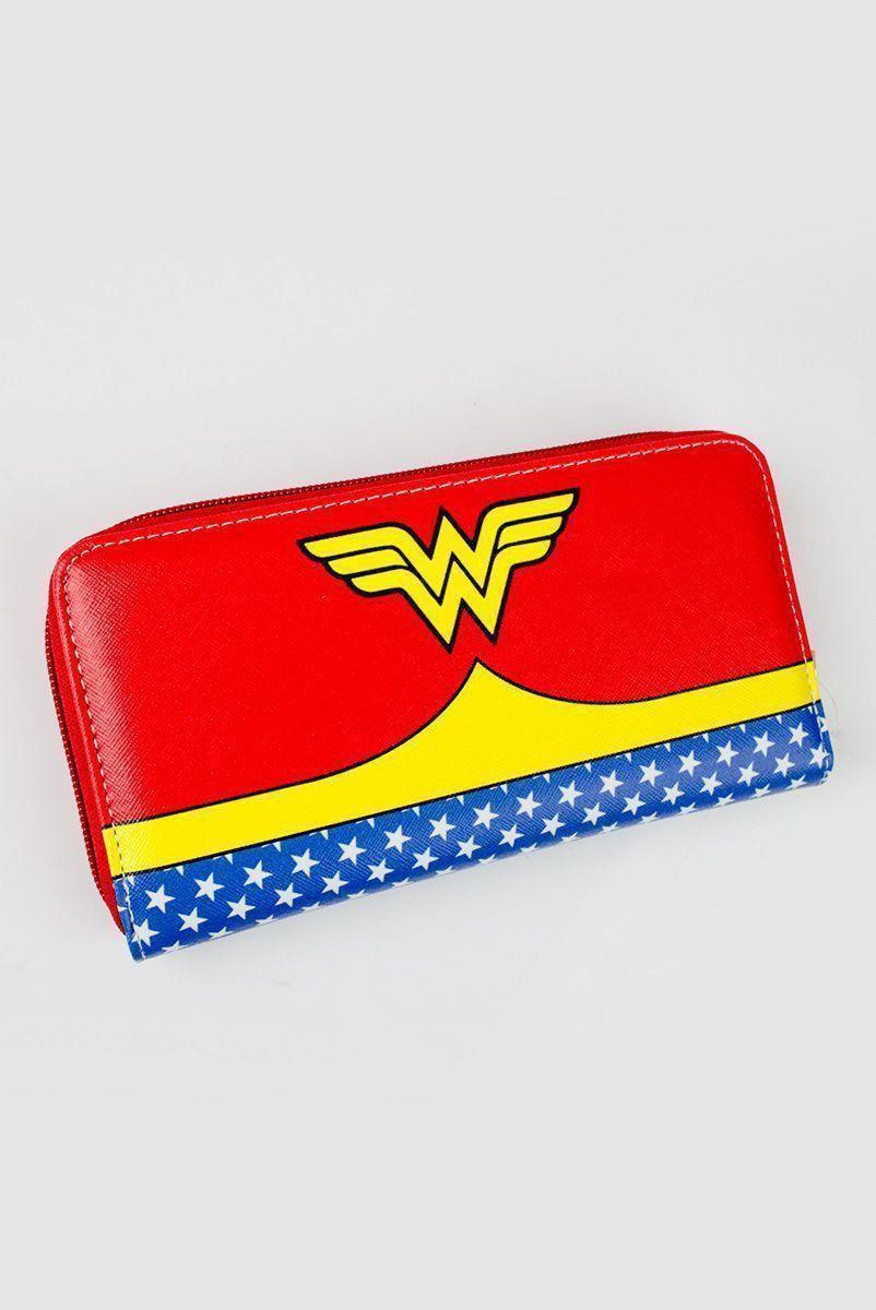 Carteira Feminina com Zíper Wonder Woman Clothes