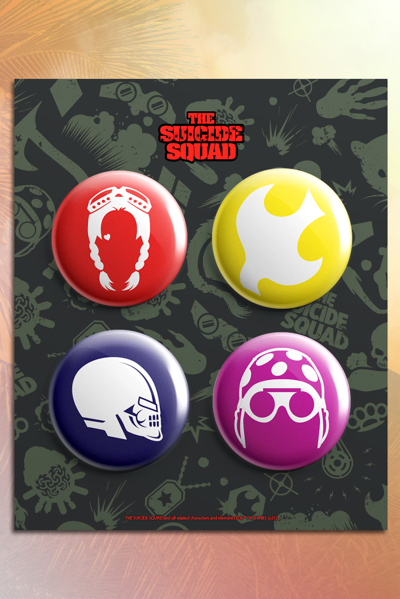 Cartela de Buttons Esquadrão Suicida ícons
