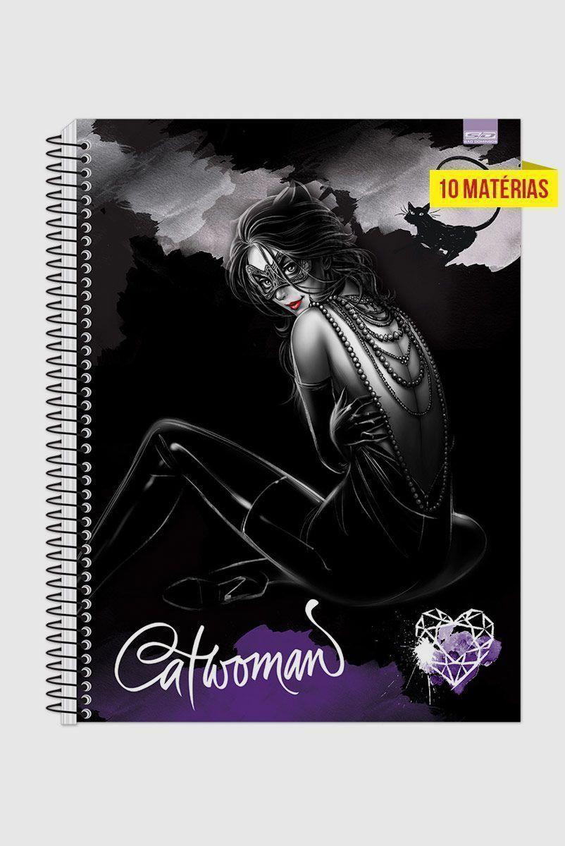 Caderno Catwoman Heart 10 Matérias