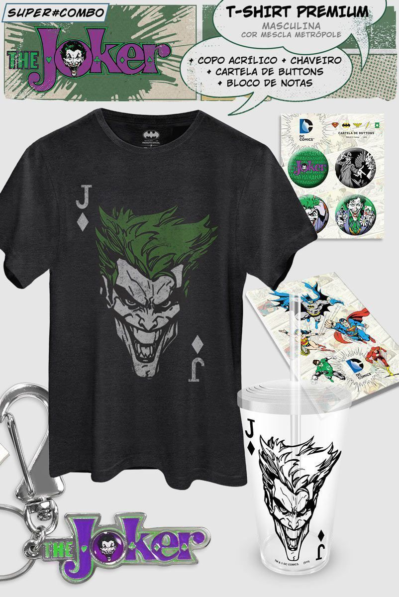 Super Combo Masculino The Joker Card