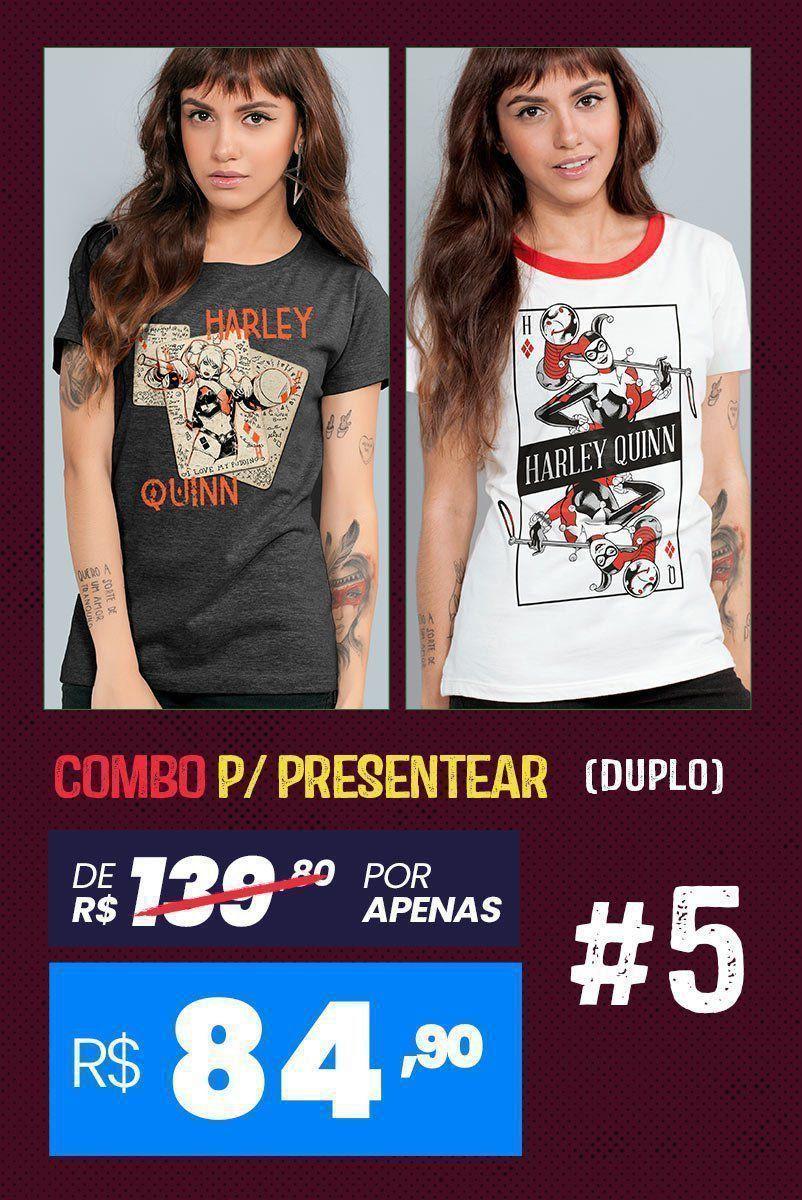 Combo 2 Camisetas Femininas Harley Quinn #5