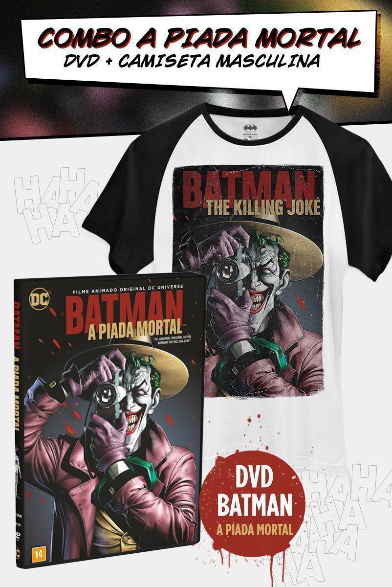 Combo DVD A Piada Mortal + Camiseta