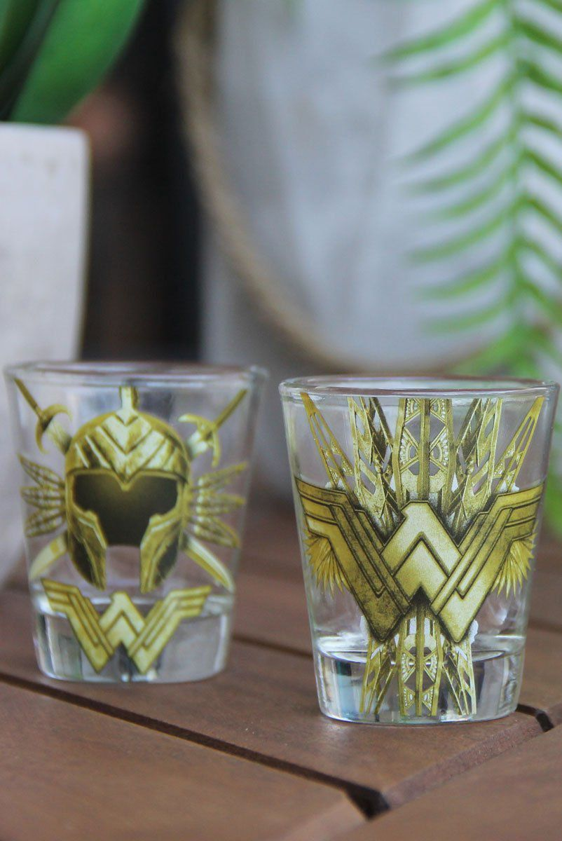 Conjunto com 4 Shots de Vidro Wonder Woman Accessories