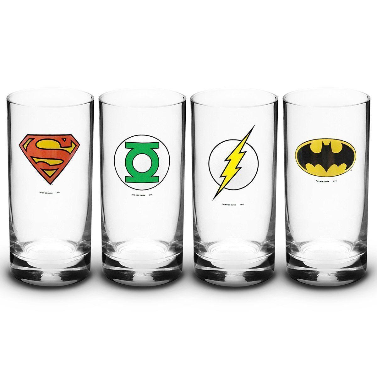 Conjunto de Copos 320ml DC Comics Símbolos
