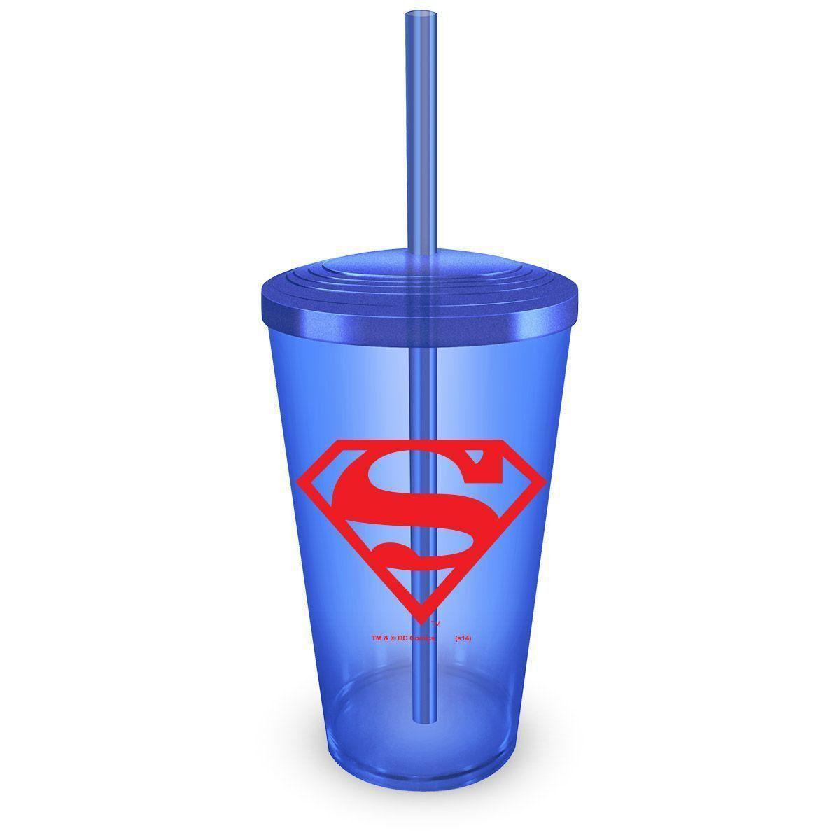 Copo Acrílico Azul Superman Logo