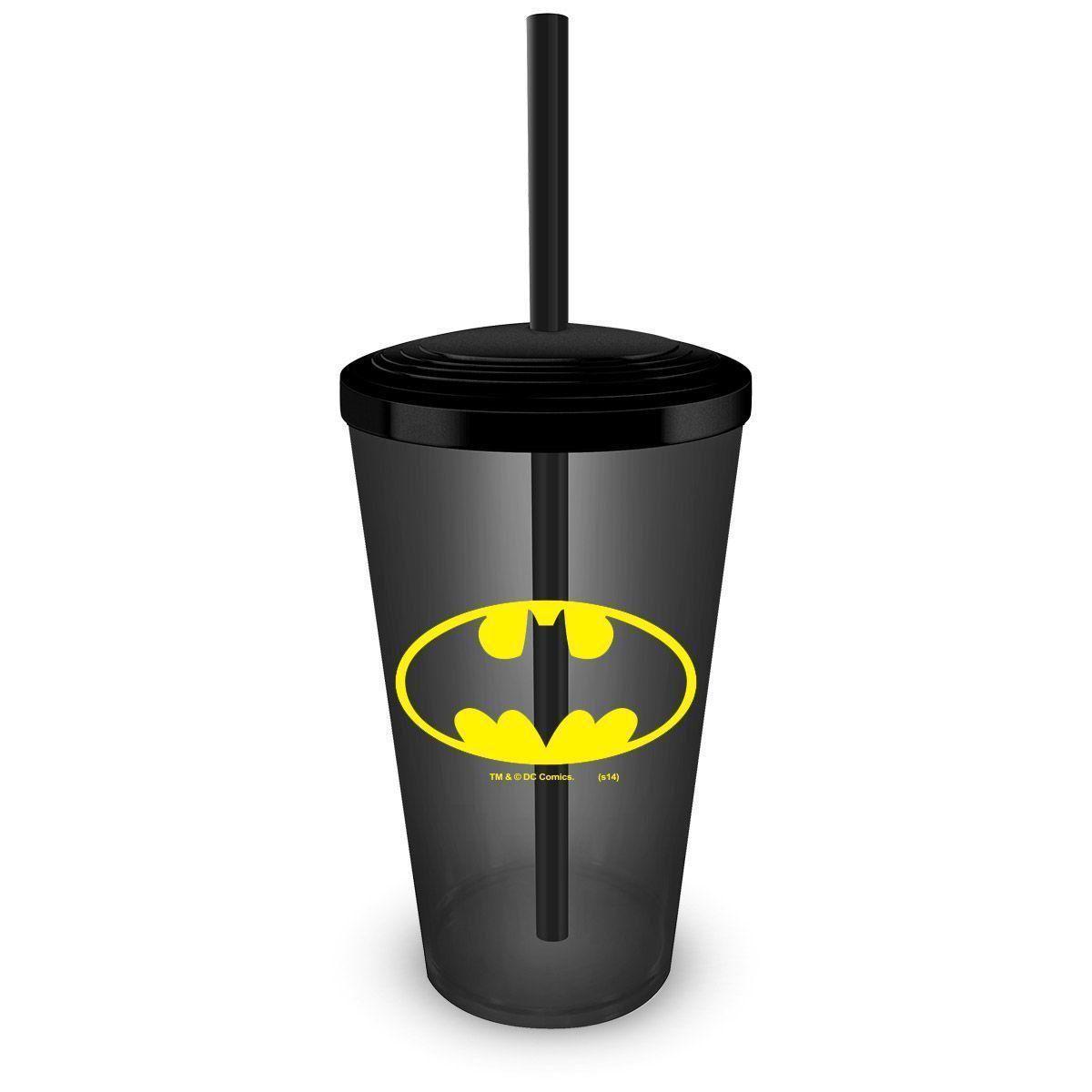 NÃO UTILIZAR Copo Acrílico Fumê Batman Logo