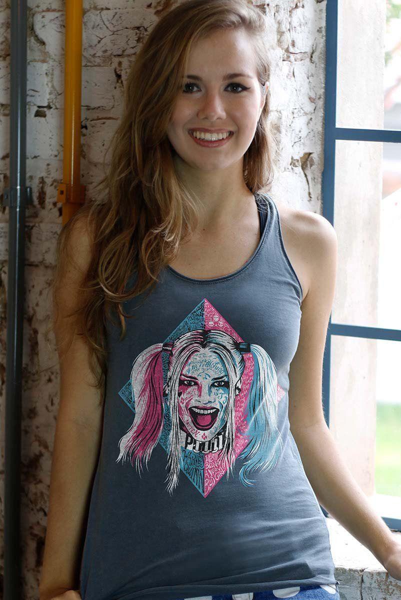 Regata Premium Feminina Esquadrão Suicida Harley Quinn Puddin