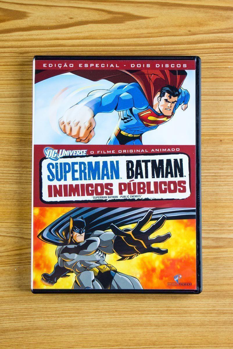 DVD Superman e Batman Inimigos Públicos