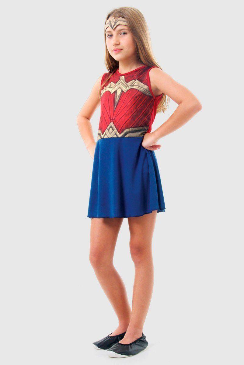 Fantasia Infantil Wonder Woman Movie Pop