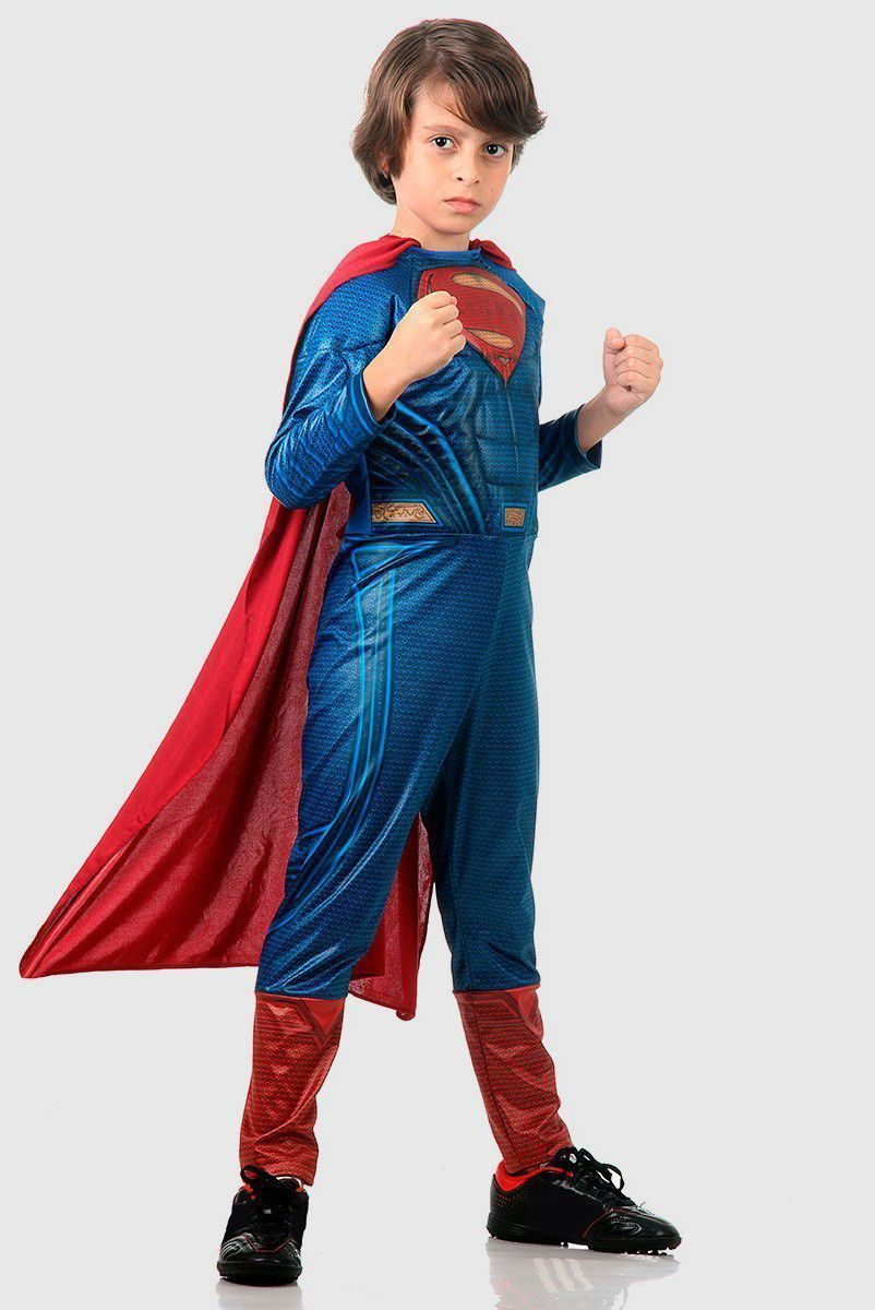 Fantasia Infantil DC BVS Superman Luxo