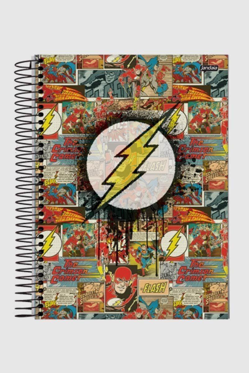 Caderno Flash Logo Quadrinhos 1 Matéria