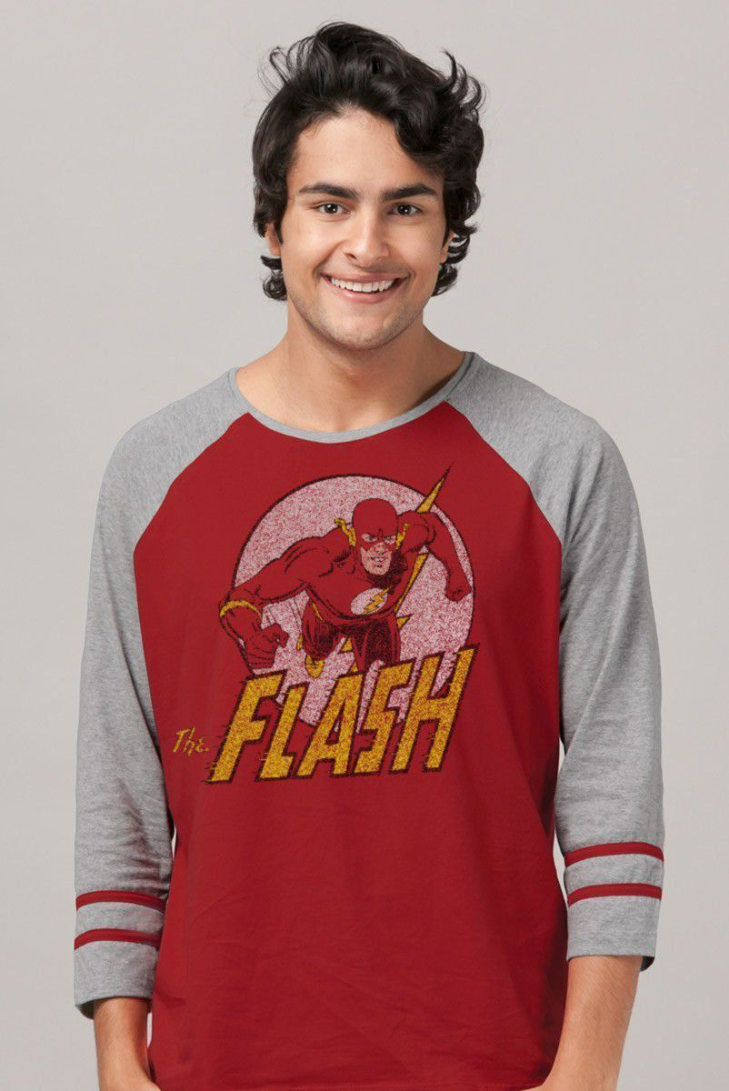 Blusa Raglan Masculina The Flash Run