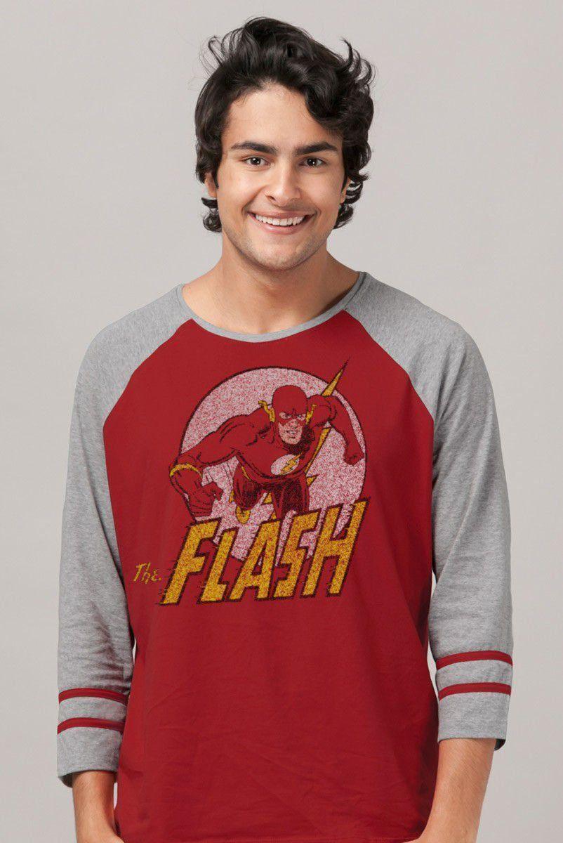 NÃO ATIVAR Blusa Raglan Masculina The Flash Run