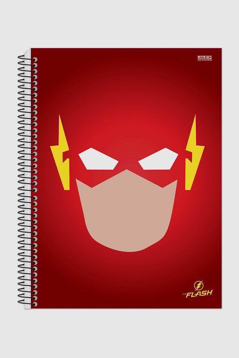 Caderno The Flash Face Vector 1 Matéria
