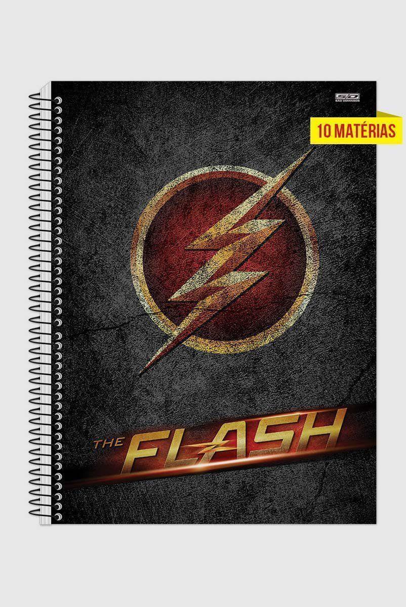 Caderno The Flash Logo Series 10 Matérias