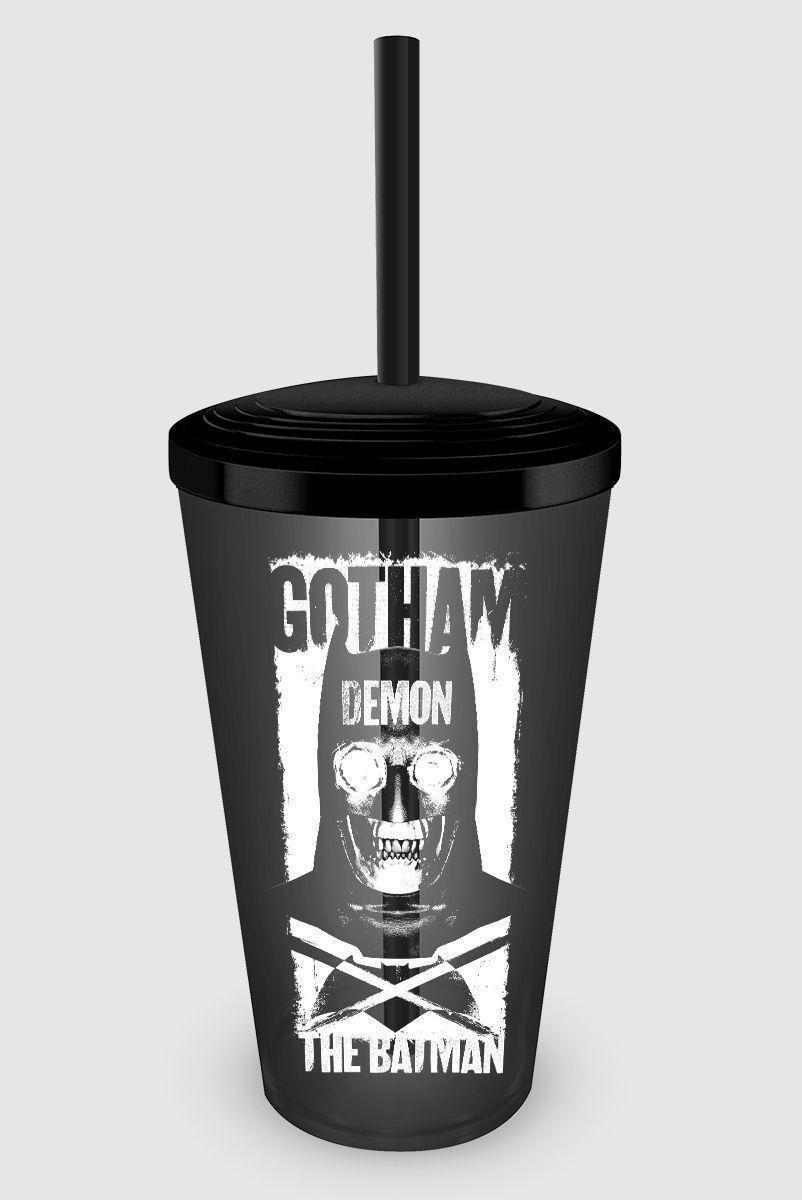 Copo Acrílico Fumê Batman VS Superman Gotham Demon
