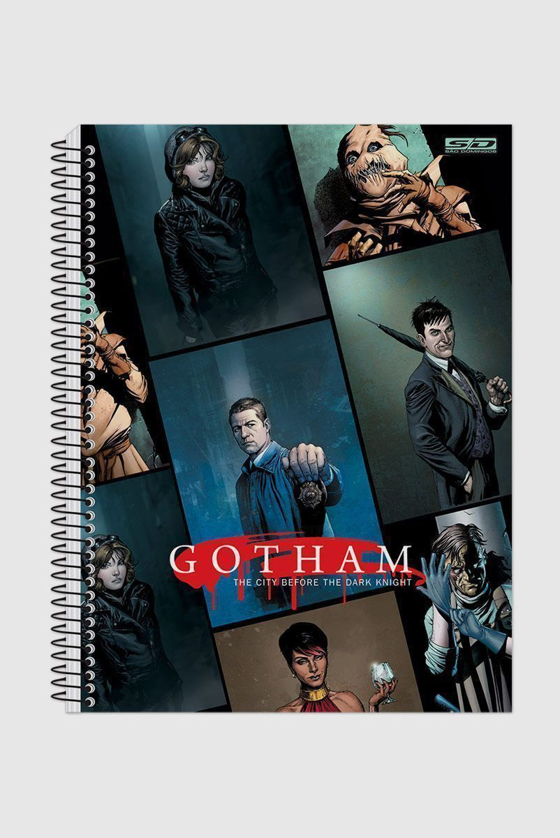 Caderno Gotham Characters 1 Matéria