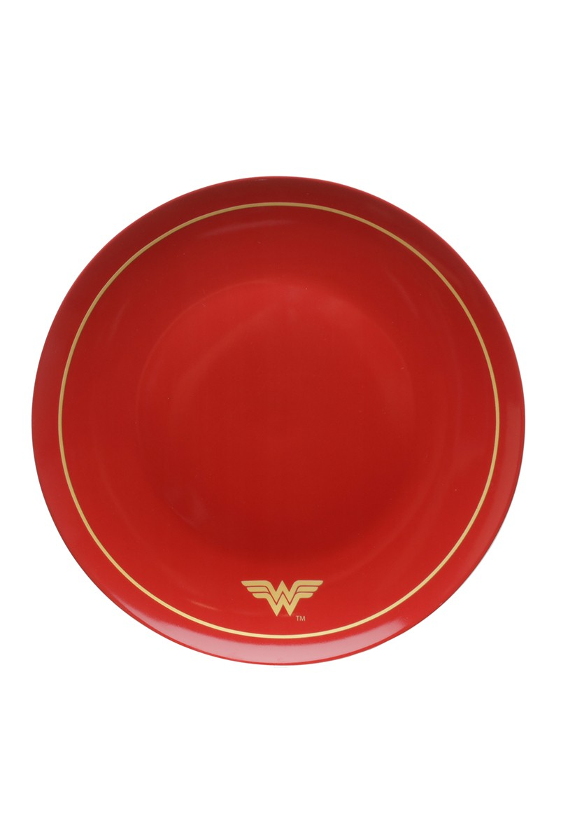 Jogo 2 Pratos de Jantar Mulher Maravilha Golden Logo