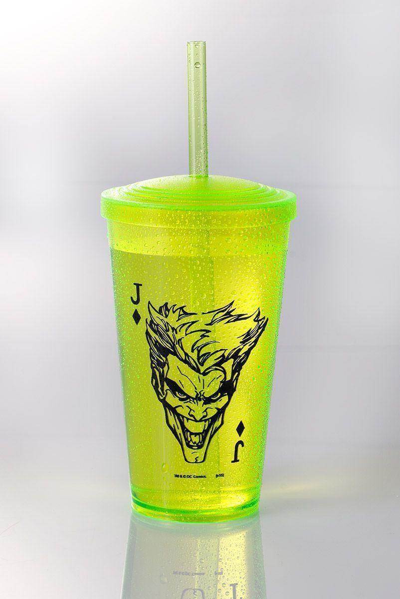 Copo Acrílico Verde The Joker Card