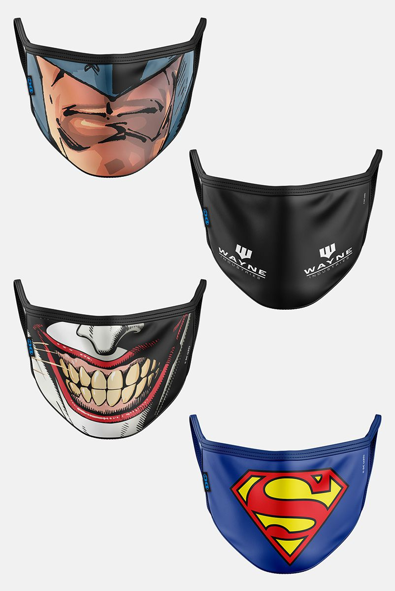 Kit com 4 Máscaras DC Comics Men