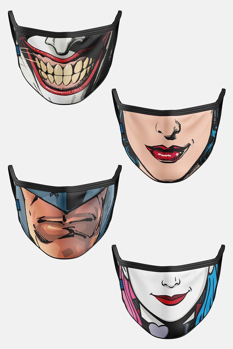 Kit com 4 Máscaras DC Comics Rostos