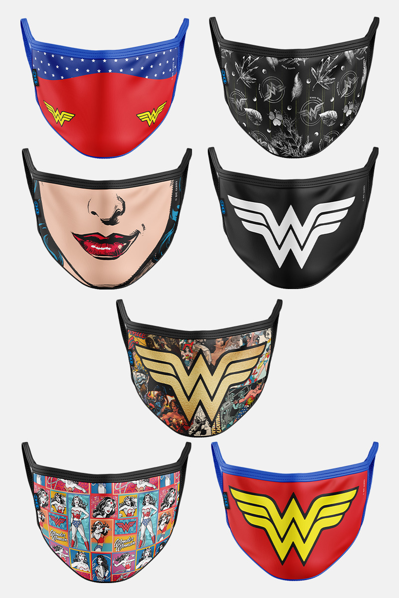 Kit com 7 Máscaras Mulher Maravilha