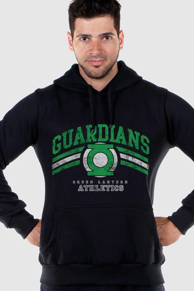 Moletom Preto Lanterna Verde Guardians Athletics