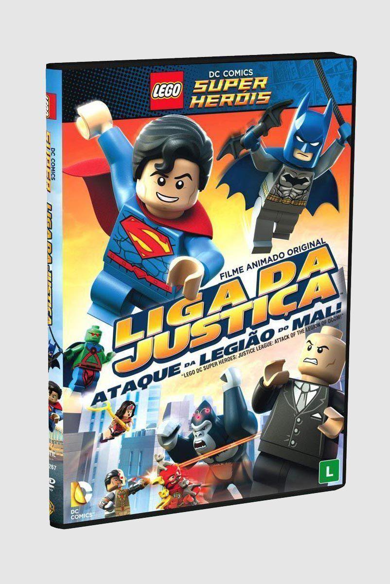 DVD Lego Liga da Justiça - Ataque da Legião do Mal