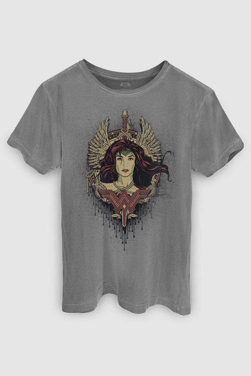 T-shirt Premium Masculina Mulher Maravilha Wonder Wings