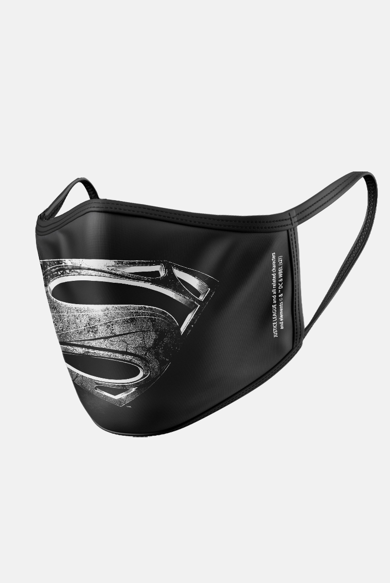 Máscara Liga da Justiça Superman Logo Dark