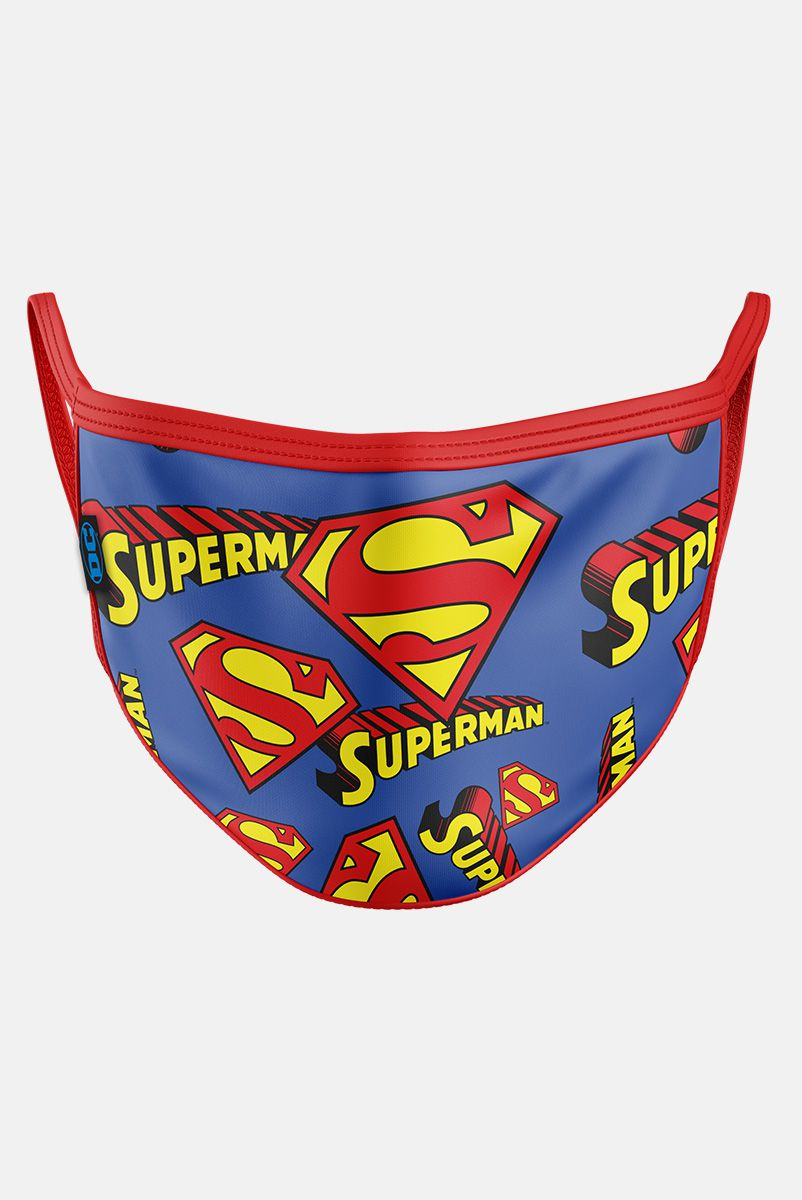 Máscara Superman Logos Pattern