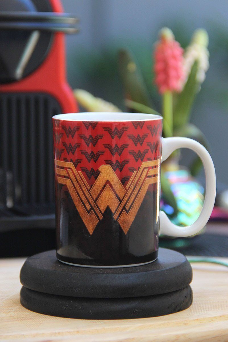 Mini Caneca Wonder Woman Movie Fancy Logo