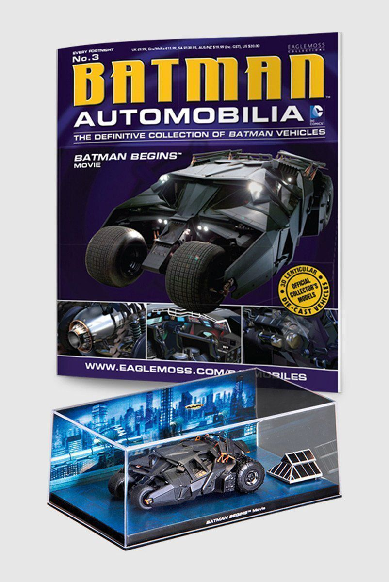 Miniatura Batmóvel ed.3 - Batman Begins: 2005 Batmobile + Revista