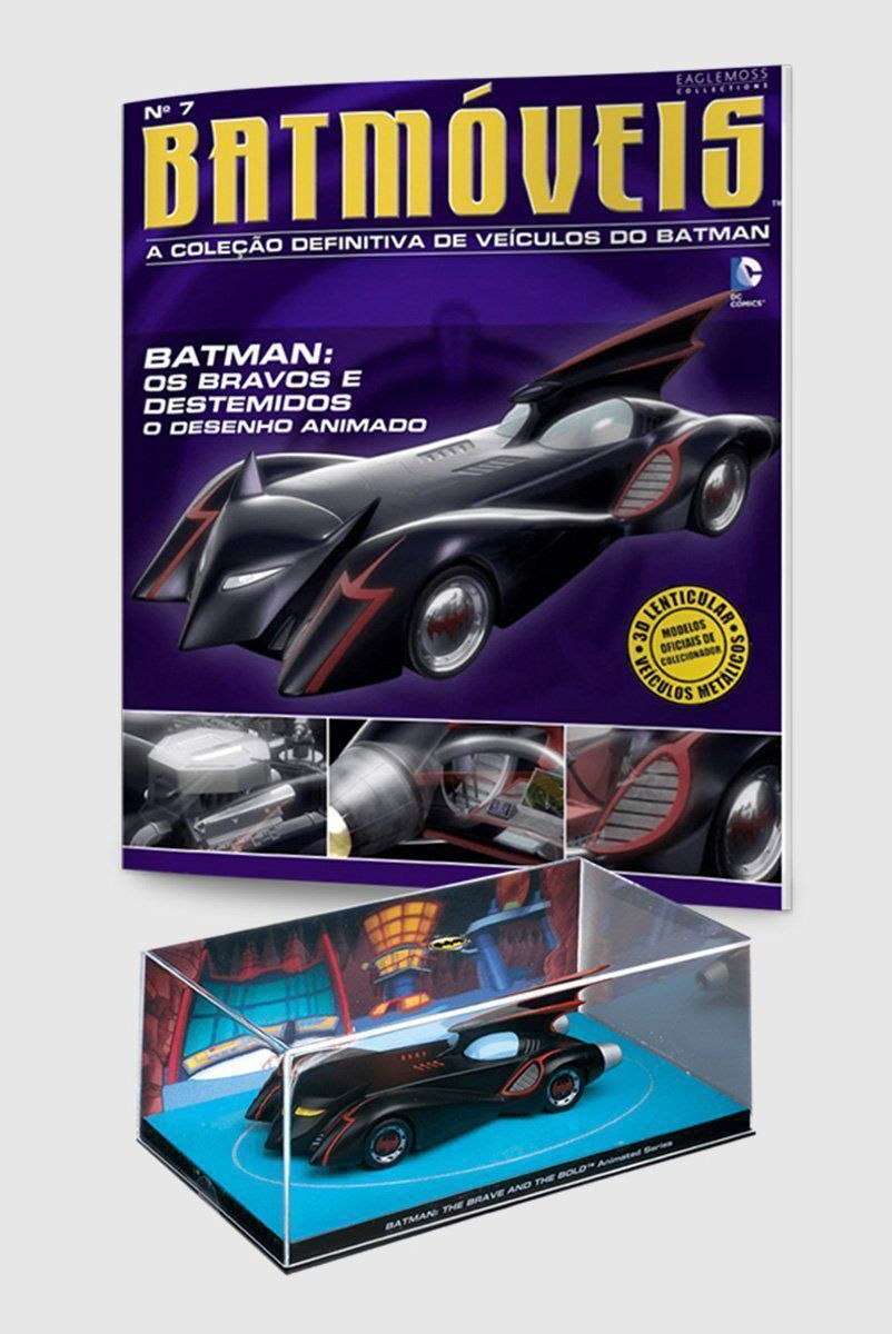 Miniatura Batmóvel ed.7 - Batman: The Brave & The Bold + Revista