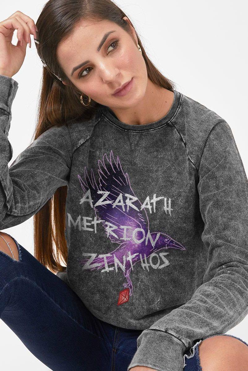 Moletinho Marmorizado Feminino Jovens Titãs Ravena Azarath Metrion Zinthos