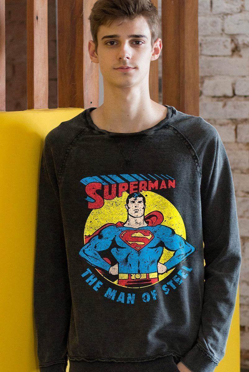 Moletinho Marmorizado Superman Vintage