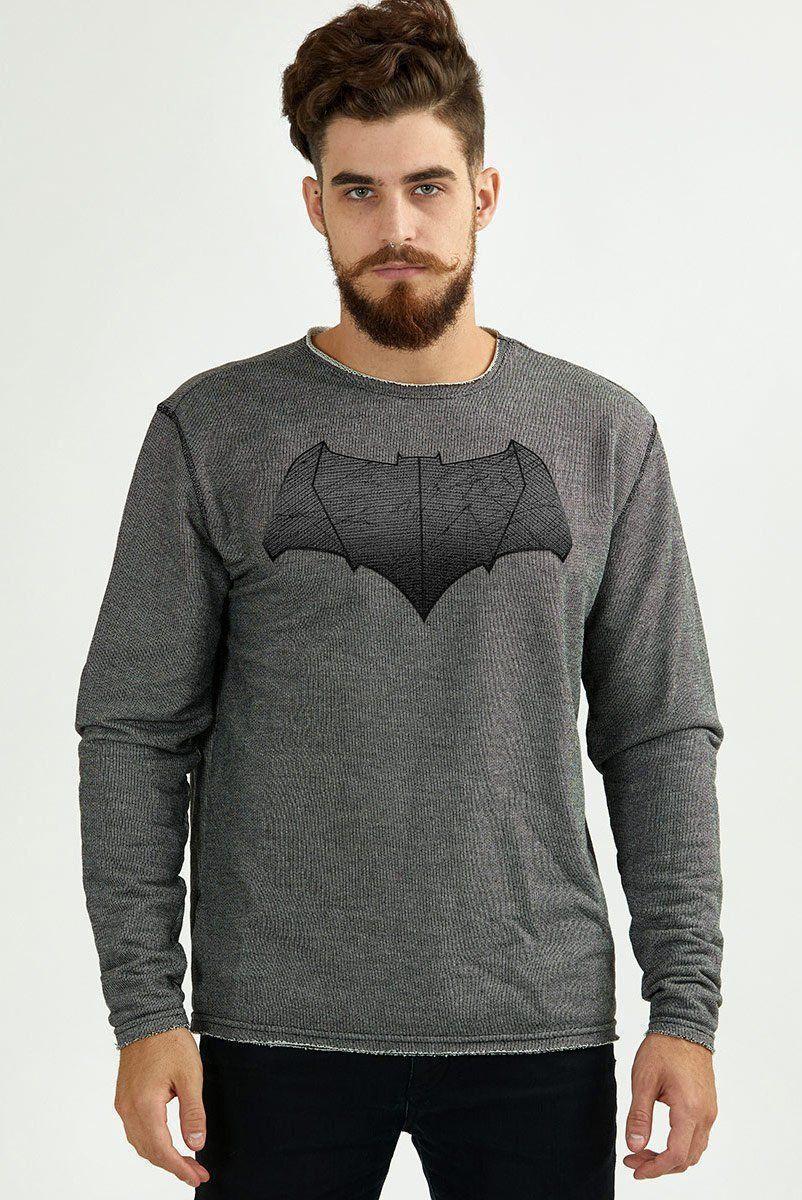 Moletinho Masculino Texturizado Batman Shield