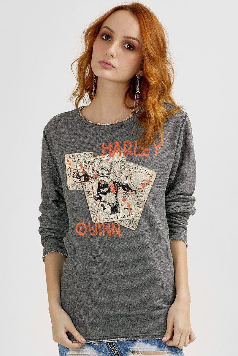 Moletinho Texturizado Harley Quinn Cards